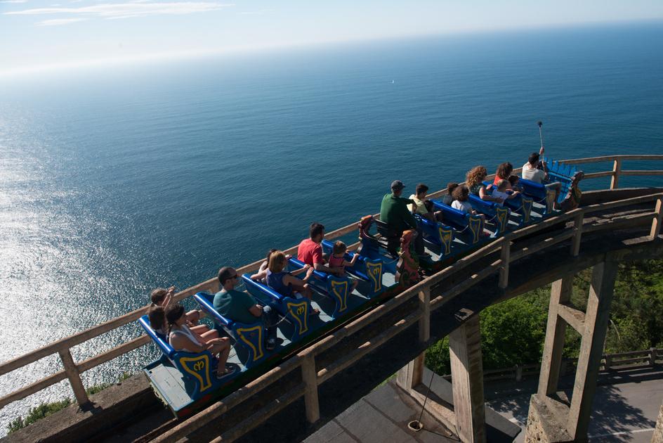 Mount Igueldo roller coaster.  Photo Source.