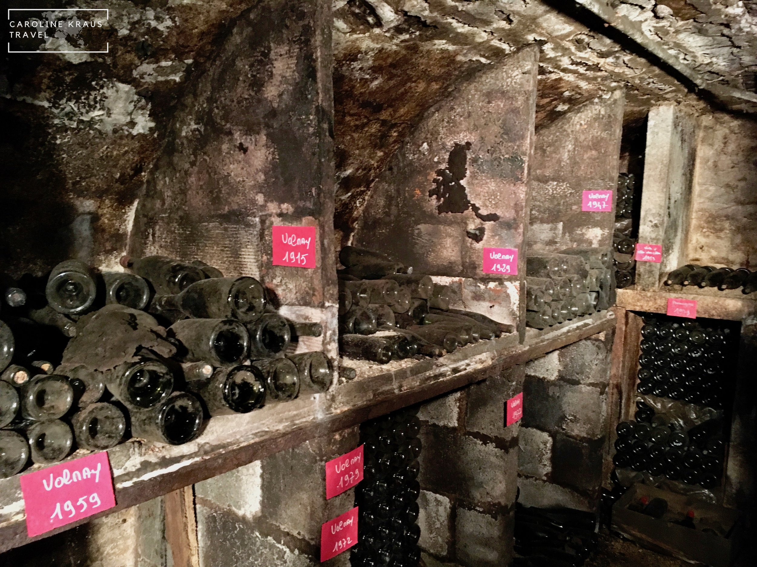 Old wine aging in the Domaine Francois Buffet wine cave