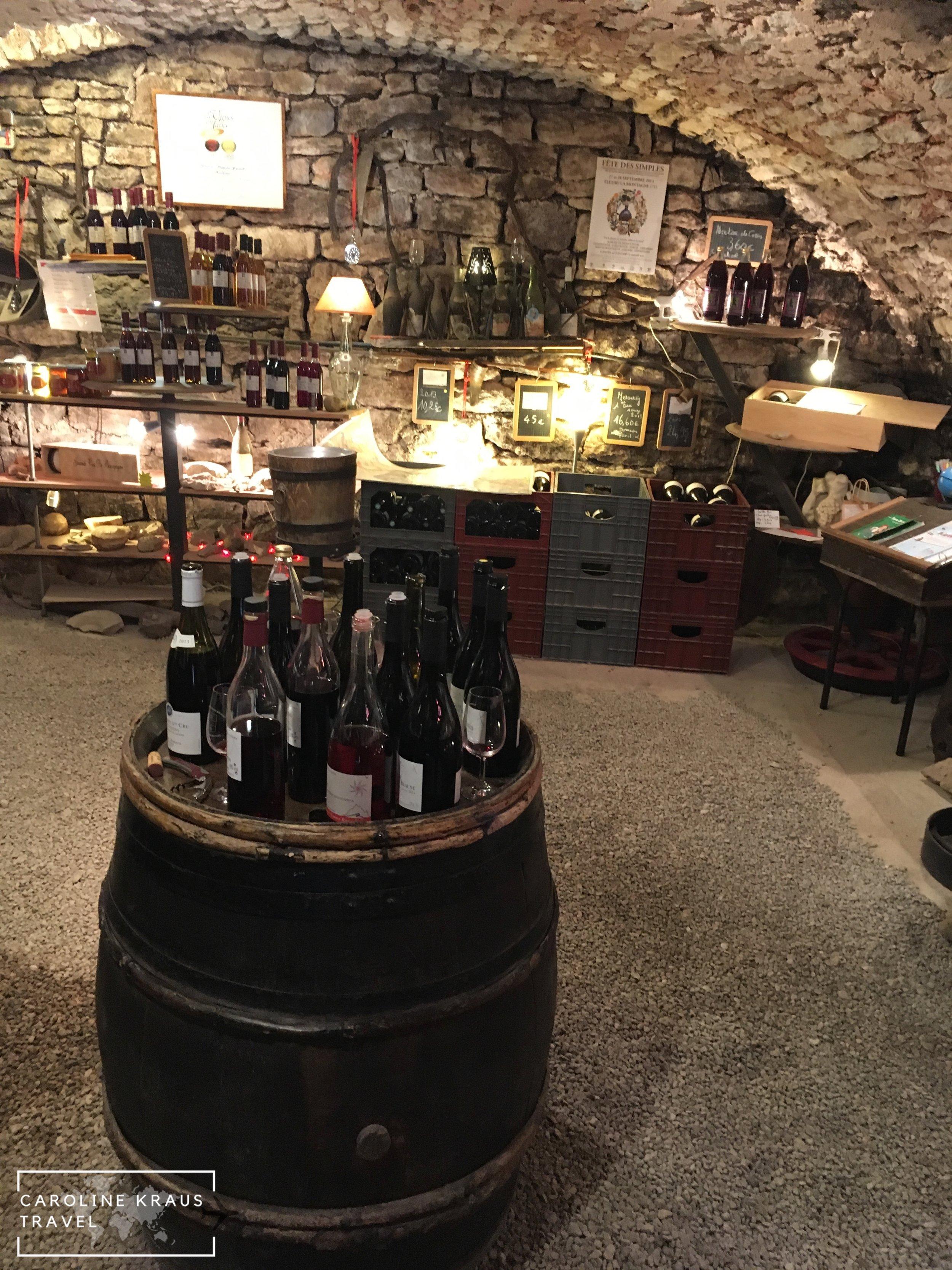 The tasting room at Domaine Rocault
