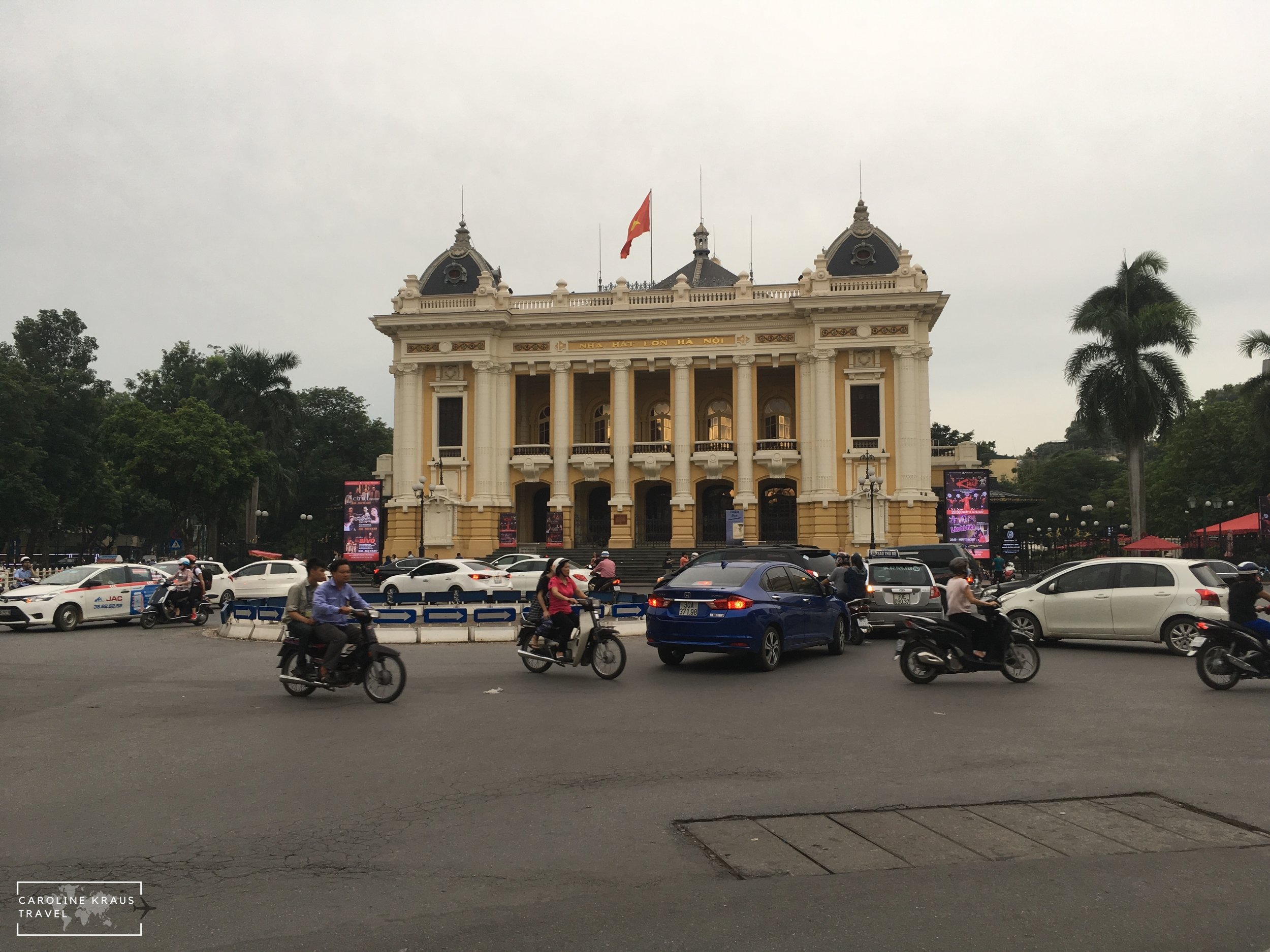 Hanoi Opera house in the French Quarter