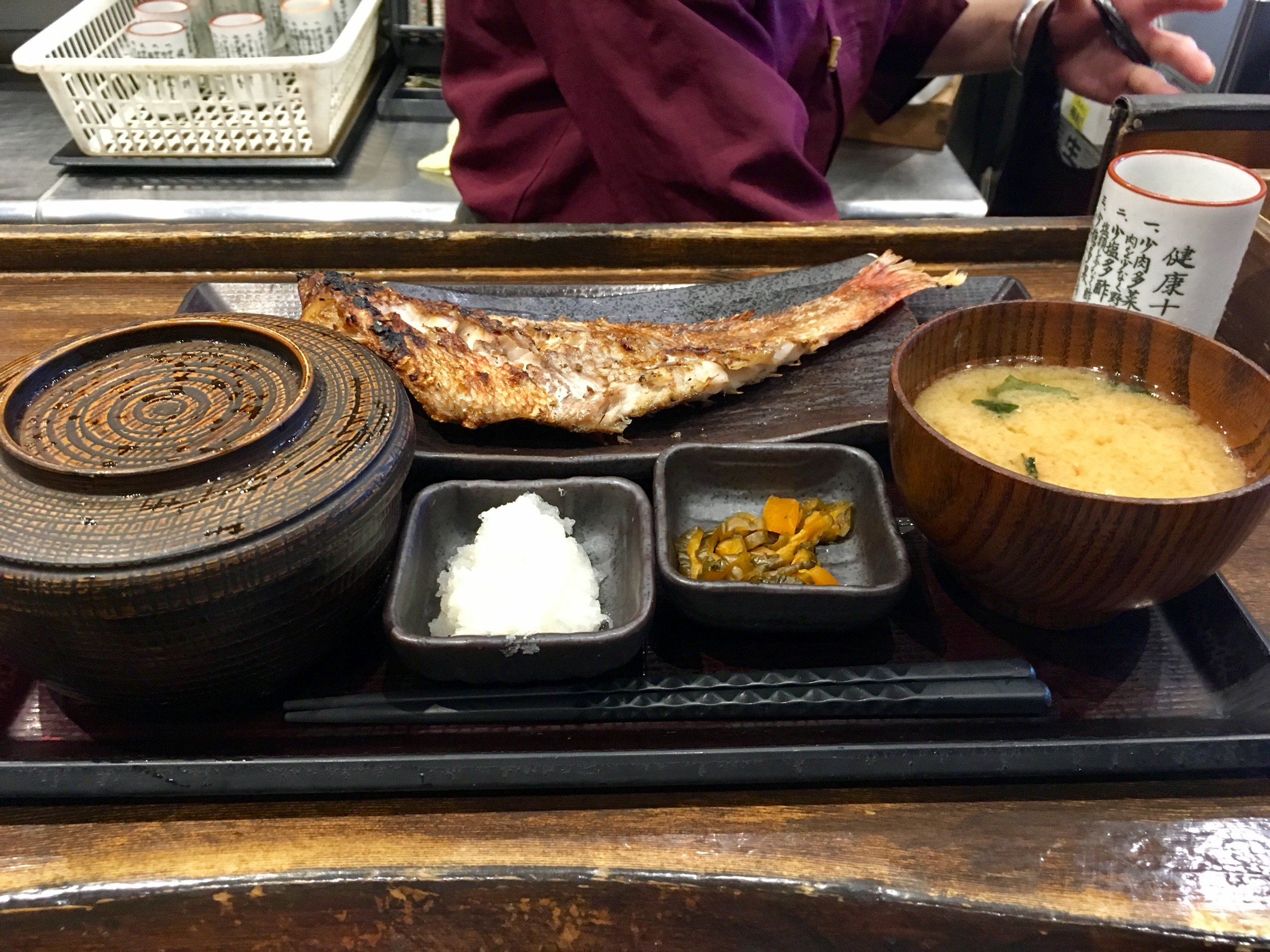 Fish breakfast at Shinpachi Shokudo
