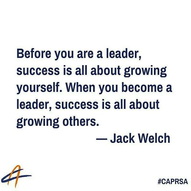 It is the job of a leader to bring out optimal performance of each individual and leverage the talents of the group to achieve results greater than each could on their own.  #leadertip #prleaders #caprsa