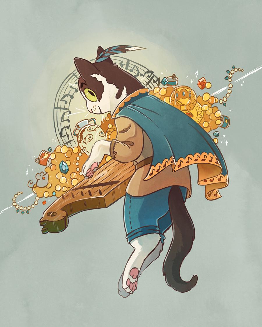 Cat Bard Commission
