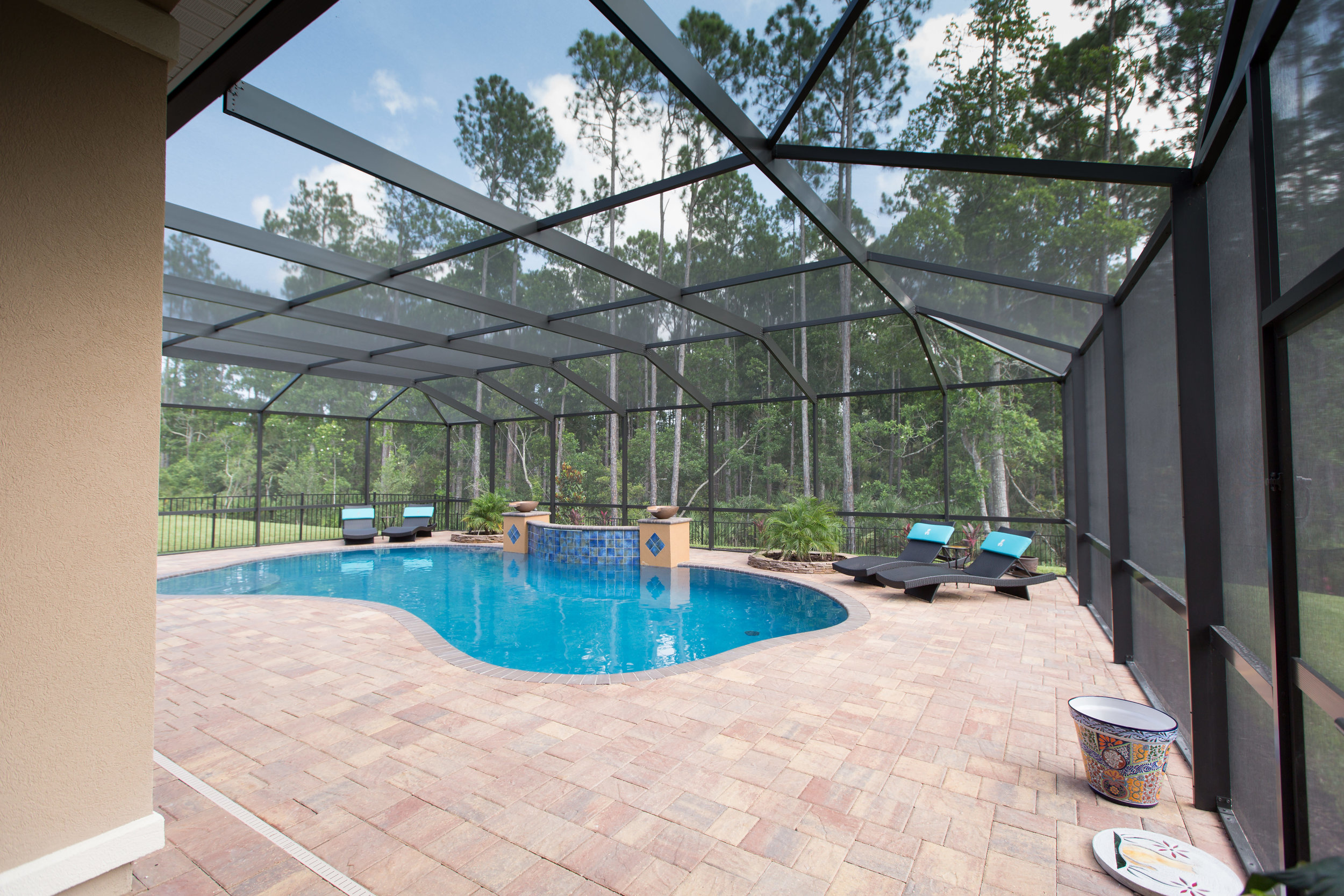 Fences & Screen Enclosures   Whether you want a little protection or a lot, our design team has you covered. Fences and screen enclosures add safety and protection for your backyard oasis.