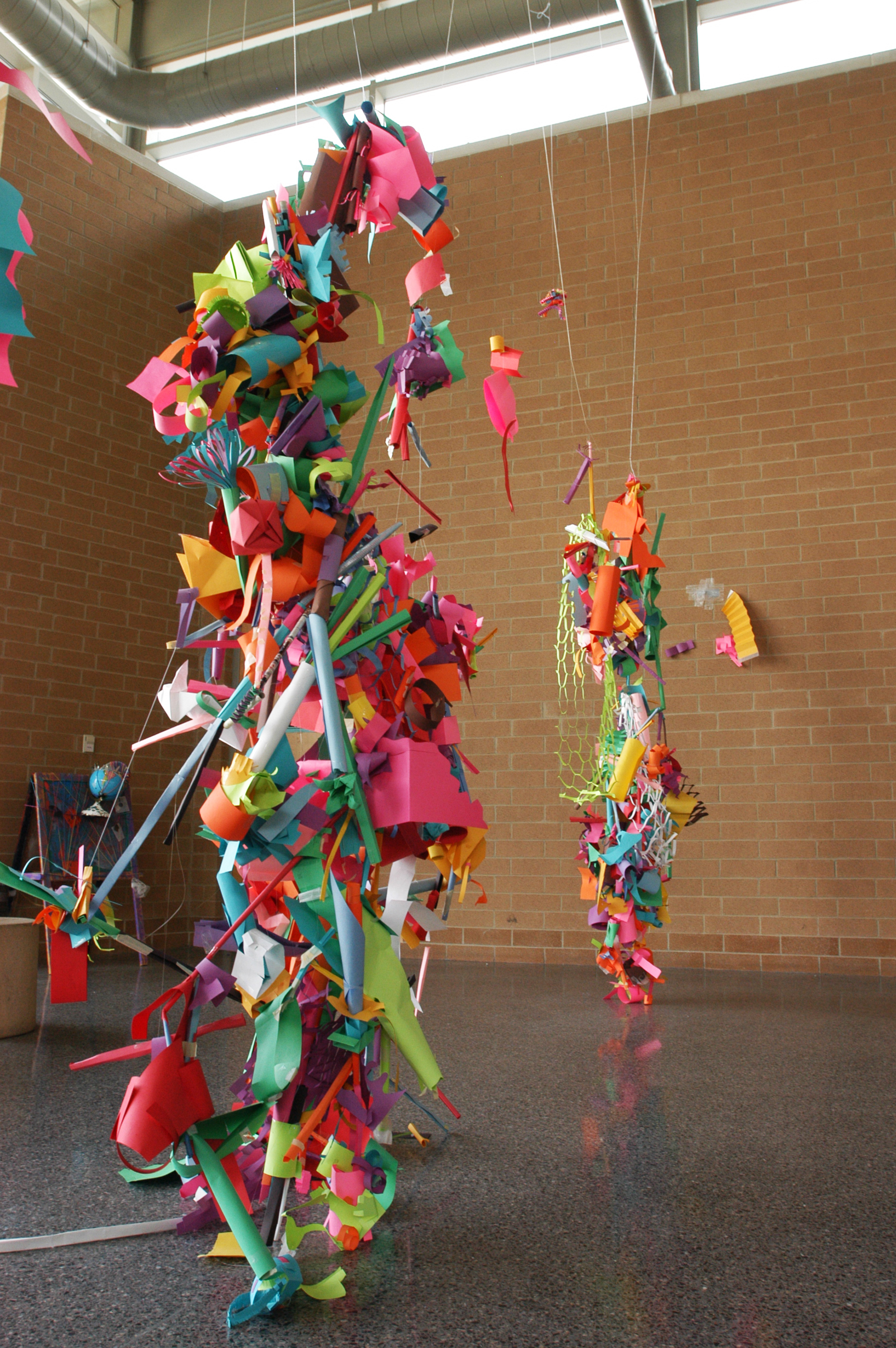 Paper sculpture project collective.