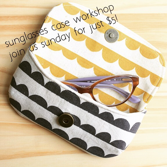 another pop up workshop!  learn to make a quick sunglass case & have fun installing snaps 🥳 just $5 a person! this sunday @ 1:30 message us to register (not for first time sewers) #ilovesnaps #groovysunglasscase #sunglasscase #sewingworkshop #sewersofinstagram #ilovetosew #makeallthethings #makersgonnamake #summersewing #doylestown #doylestownpa #thesewingroomstore