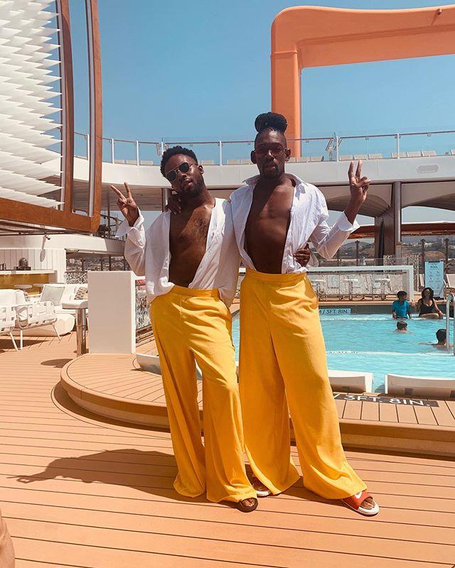 Just in case you didn't see it on @jayjayrevlon page already ! Destiny's Melanin 💛... • • • • #wolvesinthecitypodcast #gaypodcast #podcast #blackboyjoy #yellow