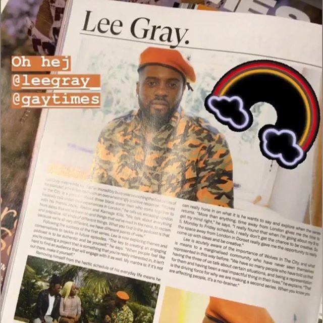 Oh Hey it's @leegray_ featured in @gaytimes if you got a copy DM US !!! • • • #PrideLondon2019 #prideinlondon #wolvesinthecity #pride #blackboyjoy #lgbtq #gaytimes