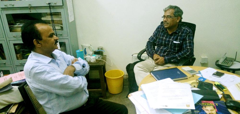 Ranganathaiah S. met Prof AGR at his office on 12th of October 2016