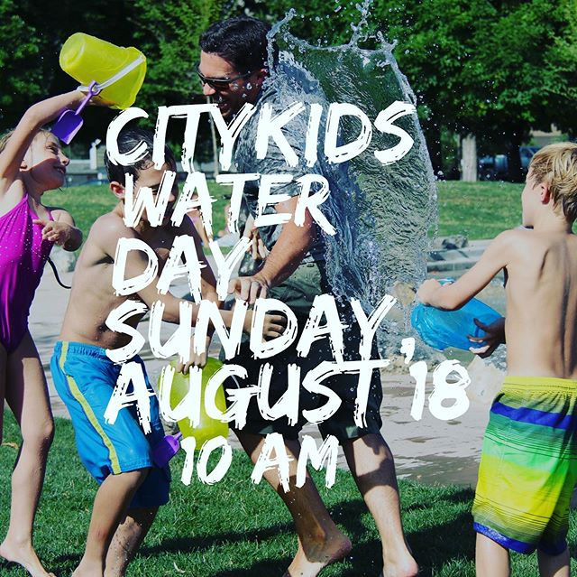 Please join us for a Sunday full of fun and water!  Kids of all ages are welcome to come. We will have activities for babies thru 5th grade.  Please have your child either bring or wear water friendly clothes if they want to get wet.  #inviteafriend#citykids#citylightsoc#sunday@10