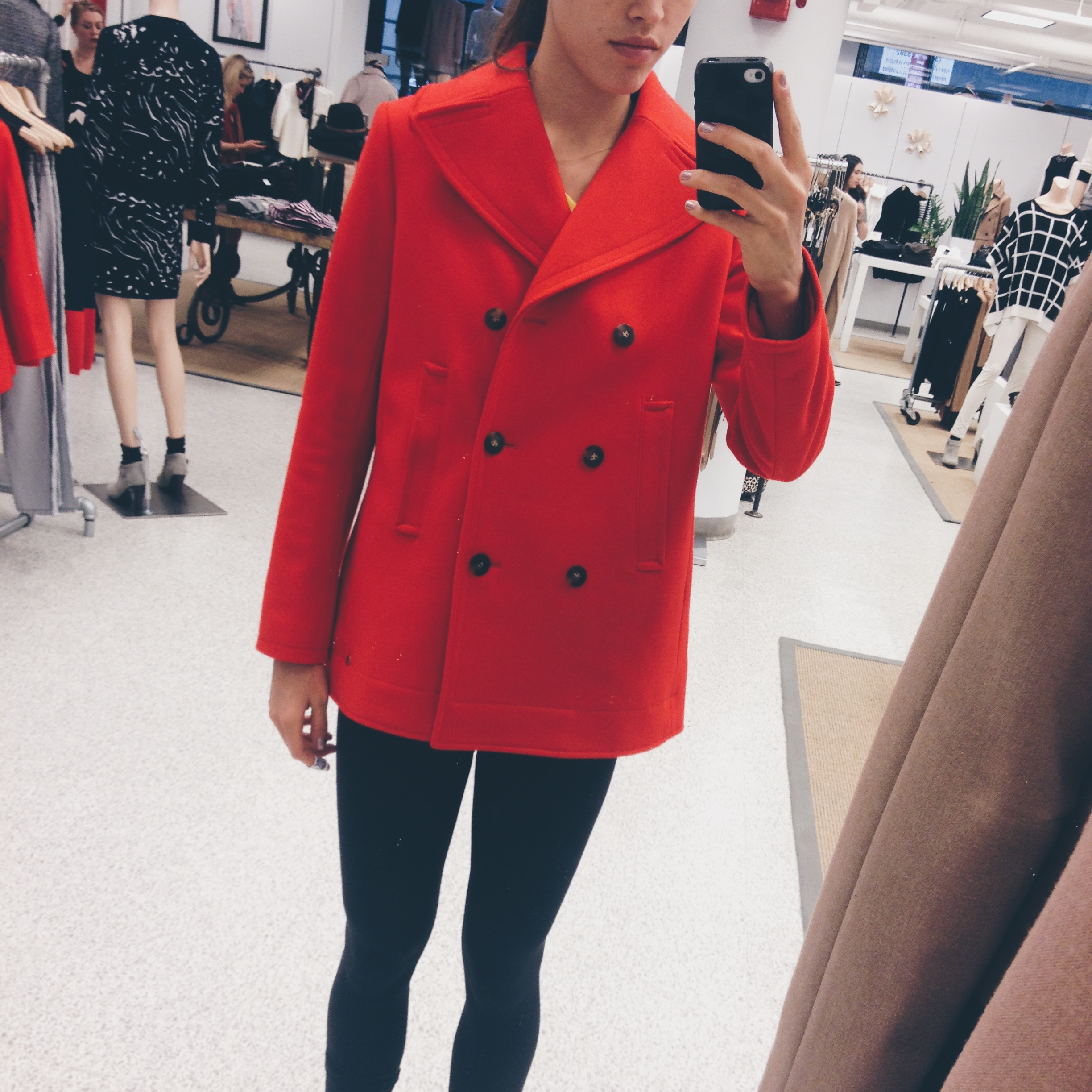 My $550 pea coat that I only wore a handful of times