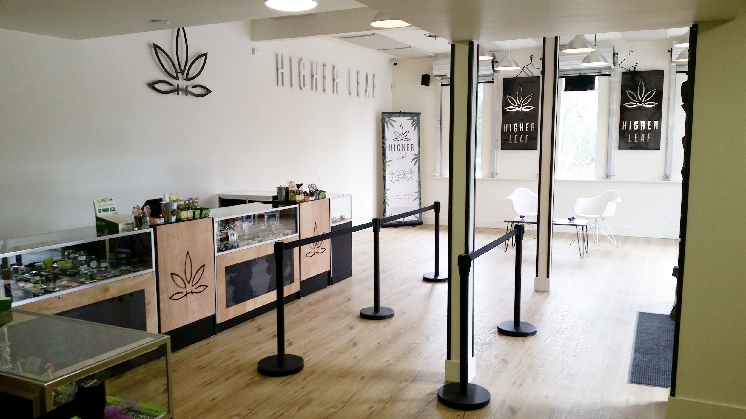 Say hello to The Eastside's Best Bud, now in Bellevue! Higher Leaf's 2nd location has many of the same vendors and strains of marijuana as our Kirkland location. Let us know what you're looking for at  www.higherleaf.com/feedback .