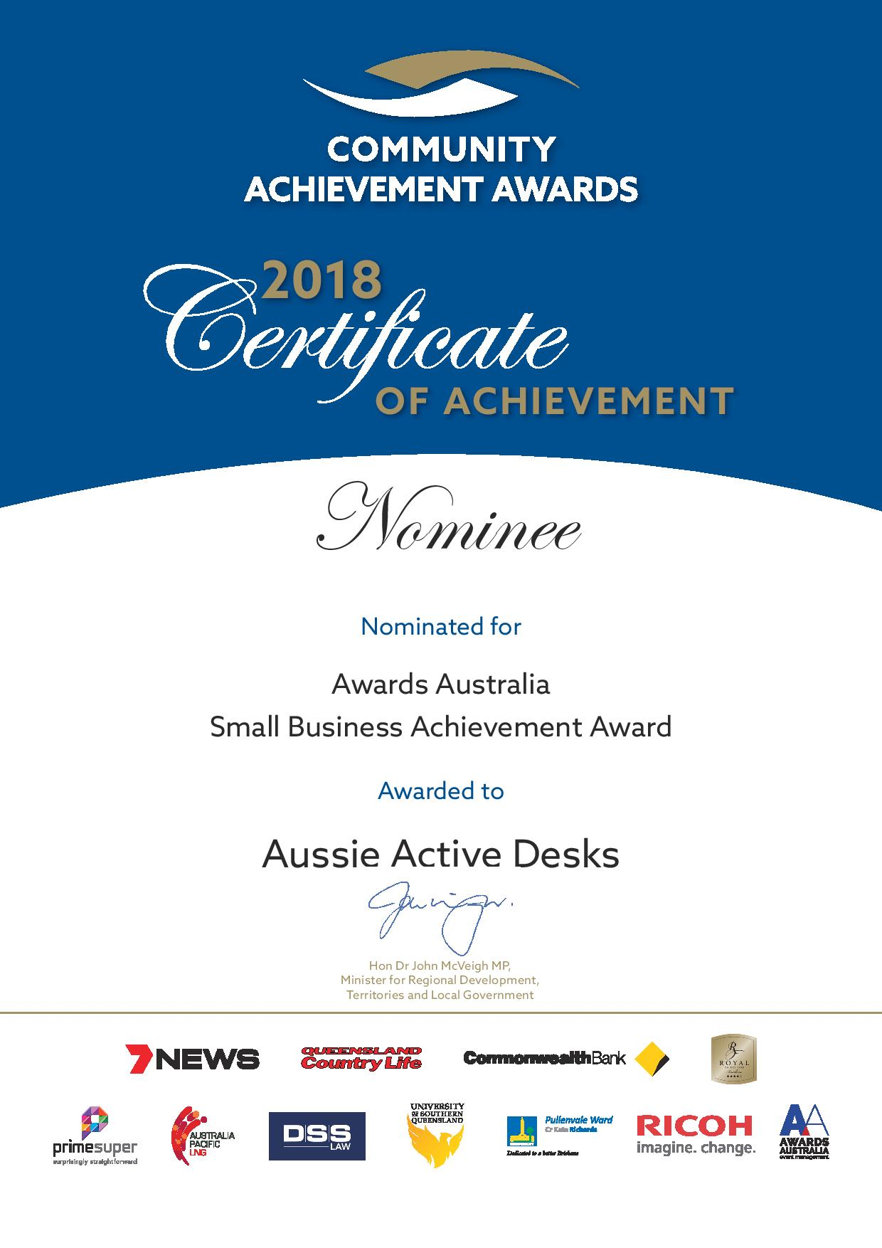 AAD - 2018 Certificate - Nominee Small Business Award.jpg