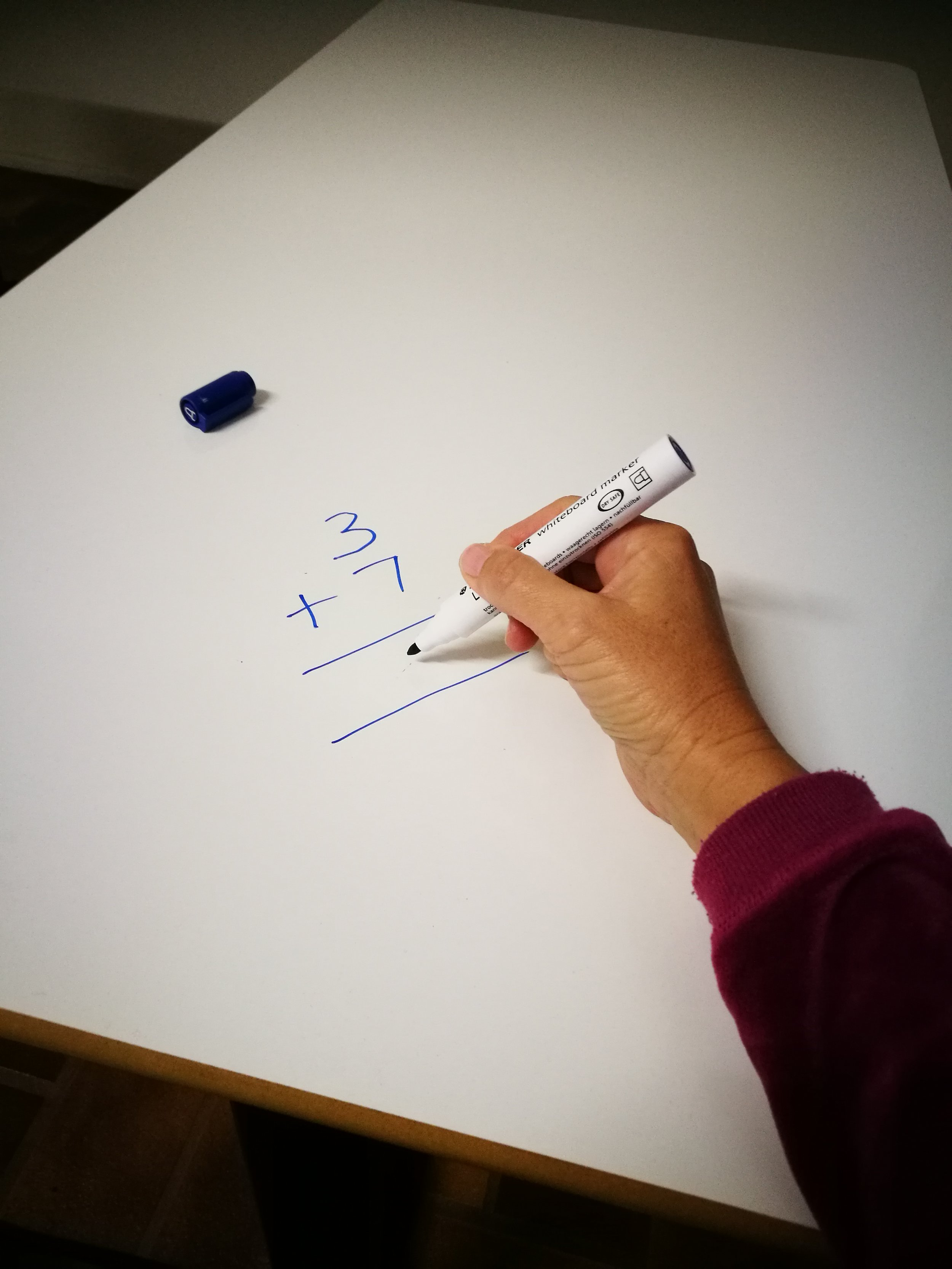 White Sheen being used as a whiteboard on an Aussie Active Desk!