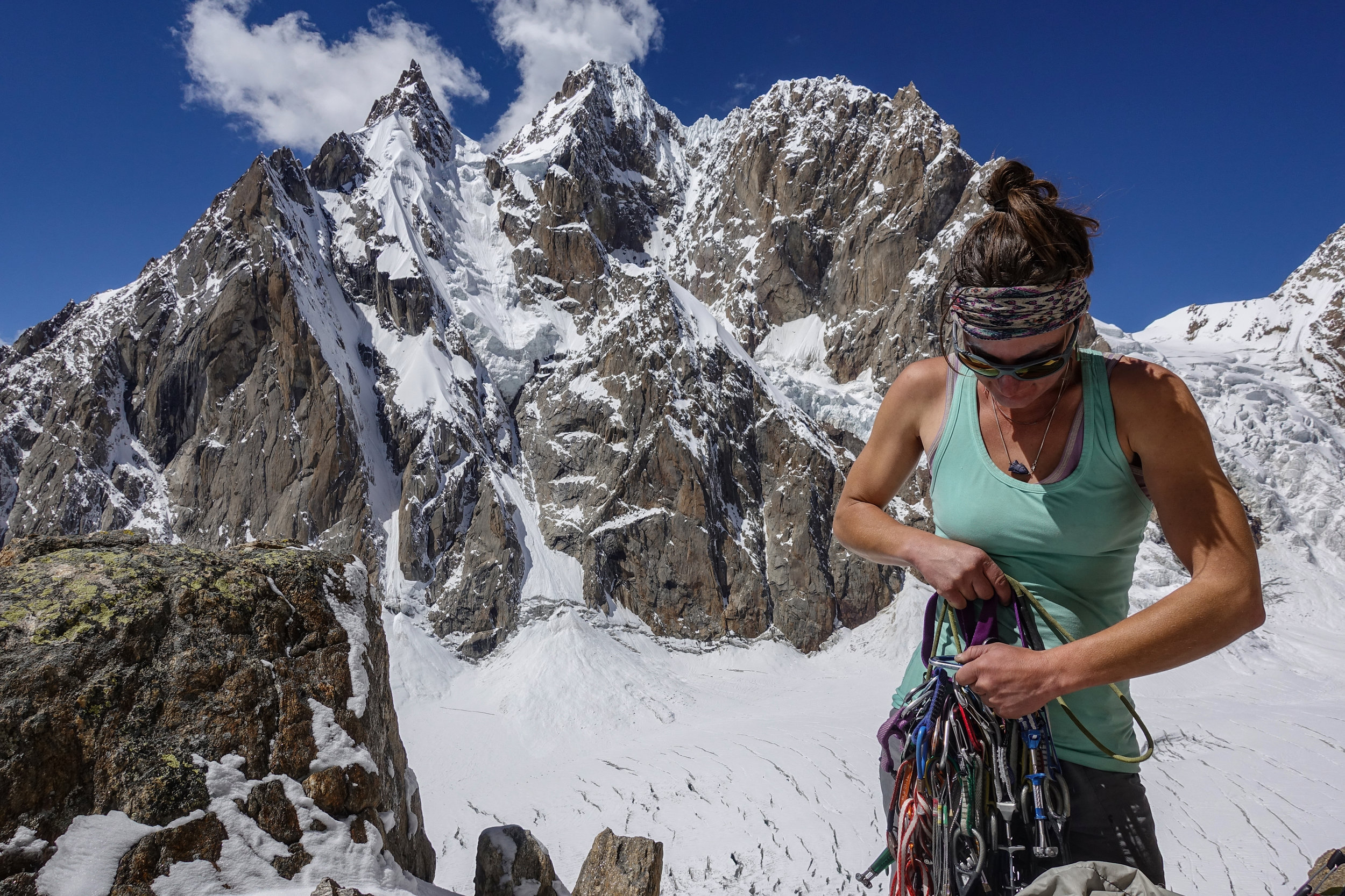 Instructor Josie McKee on a first ascent mission to the Indian Himalaya Photo: Whitney Clark