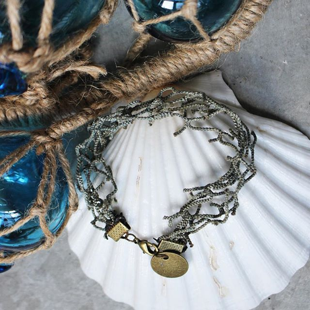 Who else wants a piece that once was from the ocean?  Help spread the word. . . . . . . . . . . #ecofashion #sealife #fishing #fishingnet #jewlery #sustainability #sustainablefashion #sustainability #dogood #ghostfishing #pollution #sealife #design #ccad #cbus #local