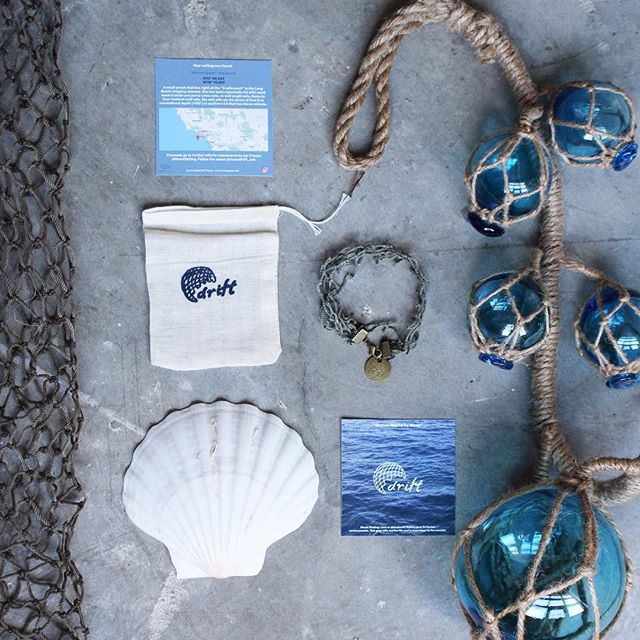Drift is still in the works and doing amazing things. Spread the word. . . . . . . . . #sustainablefashion #eco #jewlery #bracelets #oceans #blue #bluesea #cleanoceans #ghostfishing #branding #stilllife #layout #display #help #beach #sea