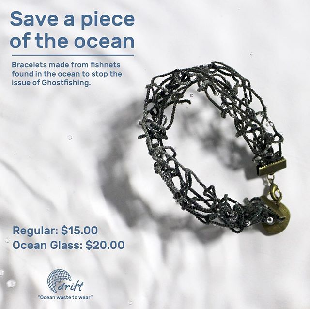 Missed your chance to get your hands on one of these lovelies?? Well nows your chance. DM for wrist measurements and you'll save a piece of the ocean. . . . . . . . #pollution #oceans #netting #bracelets #ccad #thesis #jewlery #eco #sustainablefashion #fashion #netting