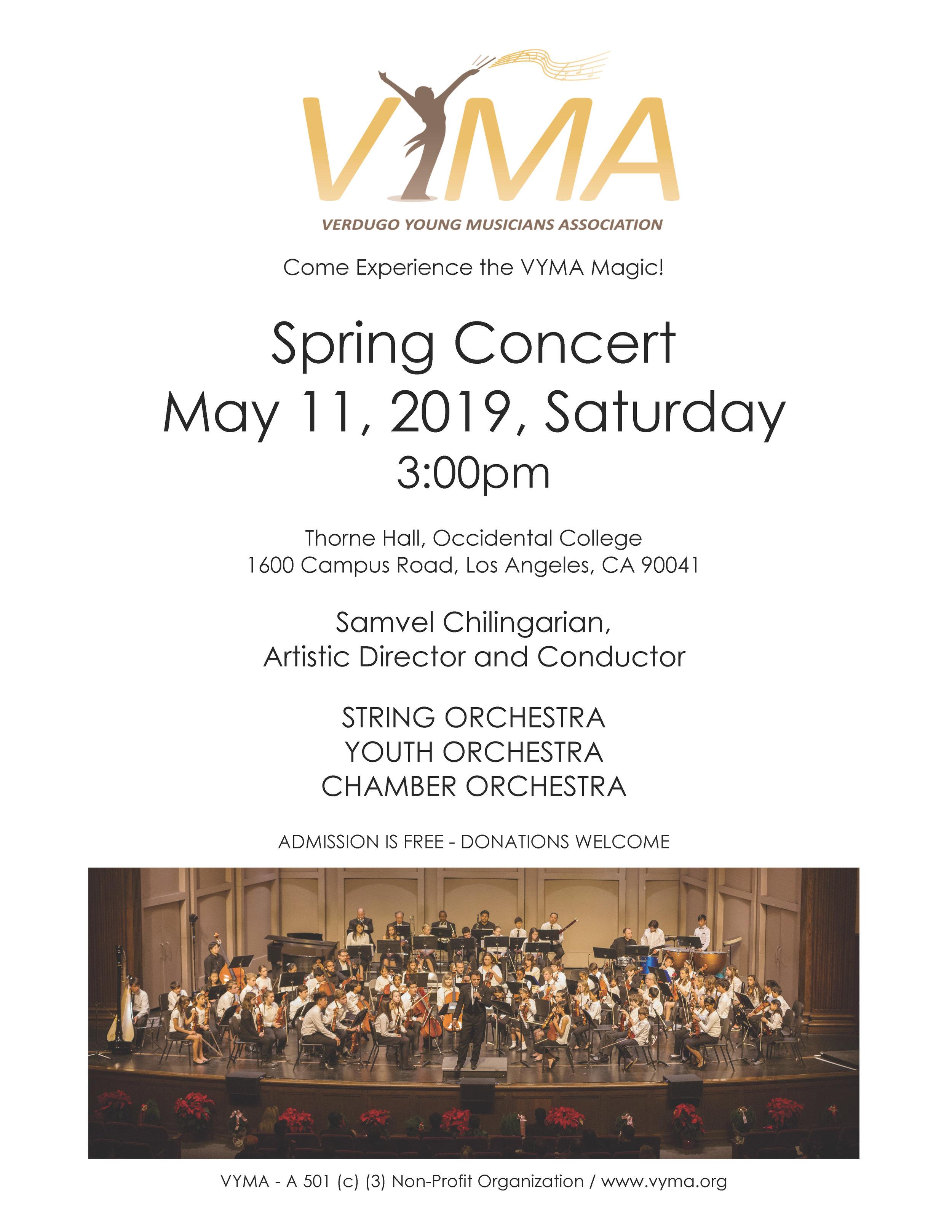 Concert Flyer Spring 2019