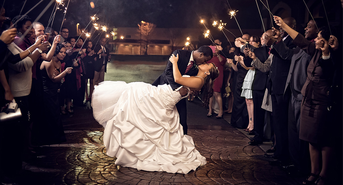 Consider the photo opportunity of being surrounded by your guests with lit sparklers or tossed confetti as you make your getaway. Pro tip: If your venue allows sparklers consider supplying a lighter or matches for guests to ensure they all spark and stay lit at the same time.