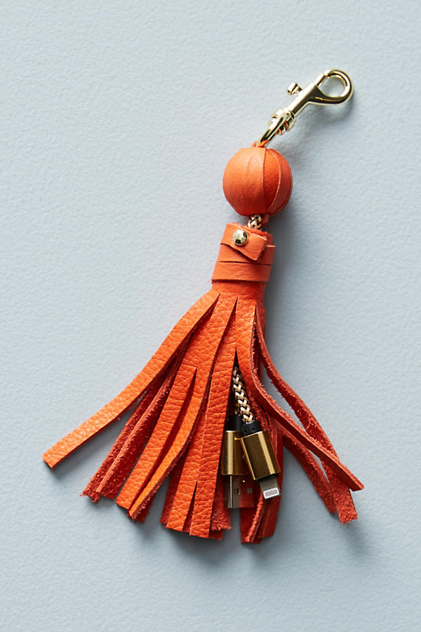 keychain + phone charger -