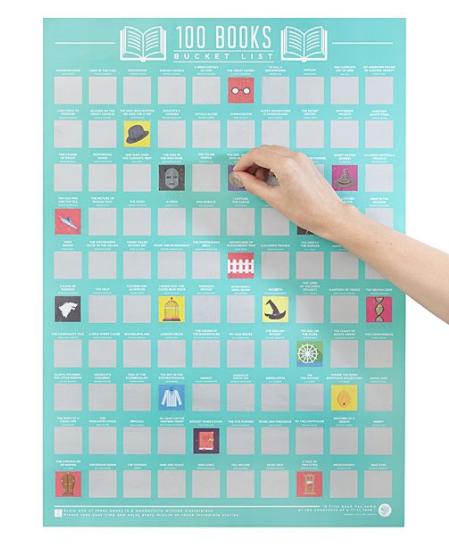 100 books challenge poster -