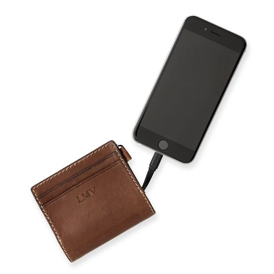 wallet with built in charger -