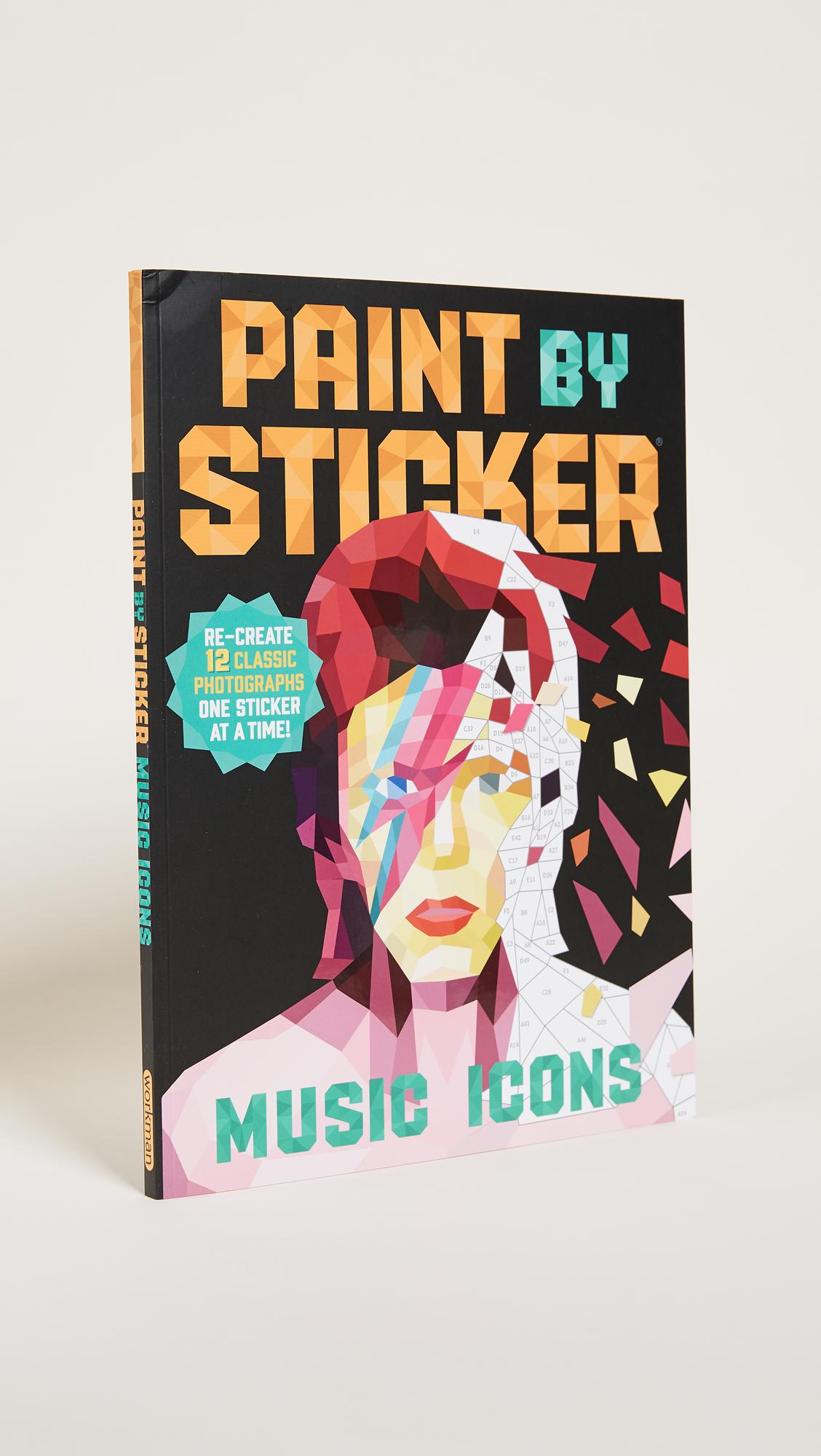 paint- by- sticker art book -
