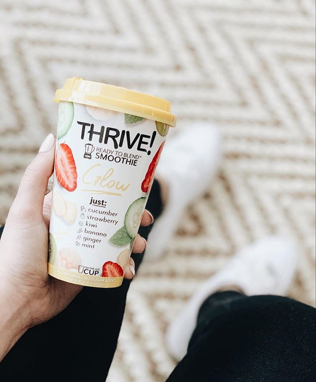 Now that the birthday marathon week is over, I'm kicking clean eating into high gear. I'm pumped to try out these Thrive smoothies. They are super convenient during the week, because let's be honest - your girl isn't waking up any earlier to make myself a smoothie for breakfast.  @readytothrivebrand recently dropped in @target stores so now my fridge can stay fully stocked (because we all know how often I go to Target) #sponsored #readytothrive • • • #smoothierecipes #smoothie #thenativecreative #cleaneating #onthego #foodie #foodgram #targetdoesitagain #targetfinds #dallasinfluencer #dallasblogger #smoothierecipe