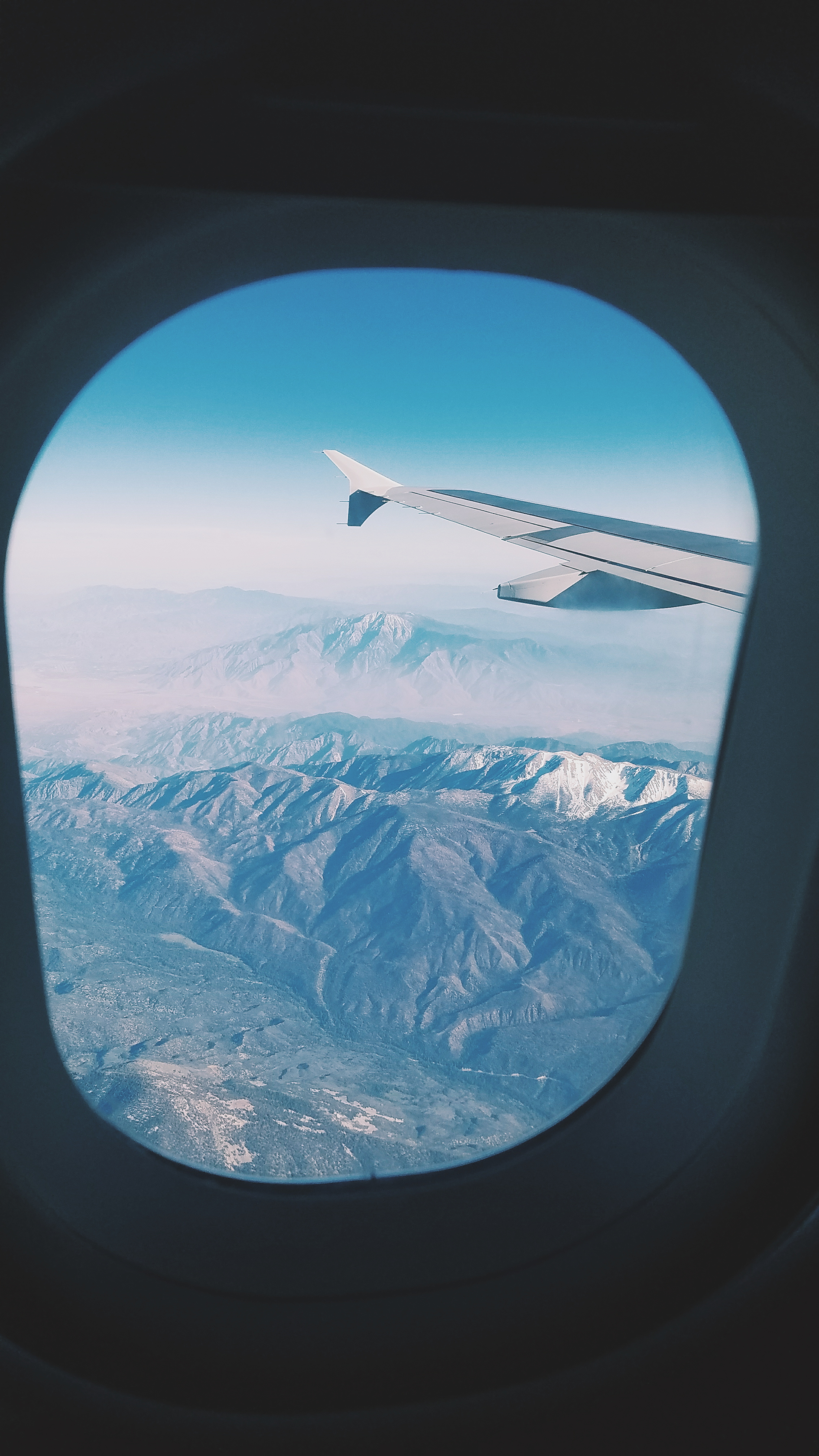Somewhere over the Rockies - see what I mean by the breath-taking views?