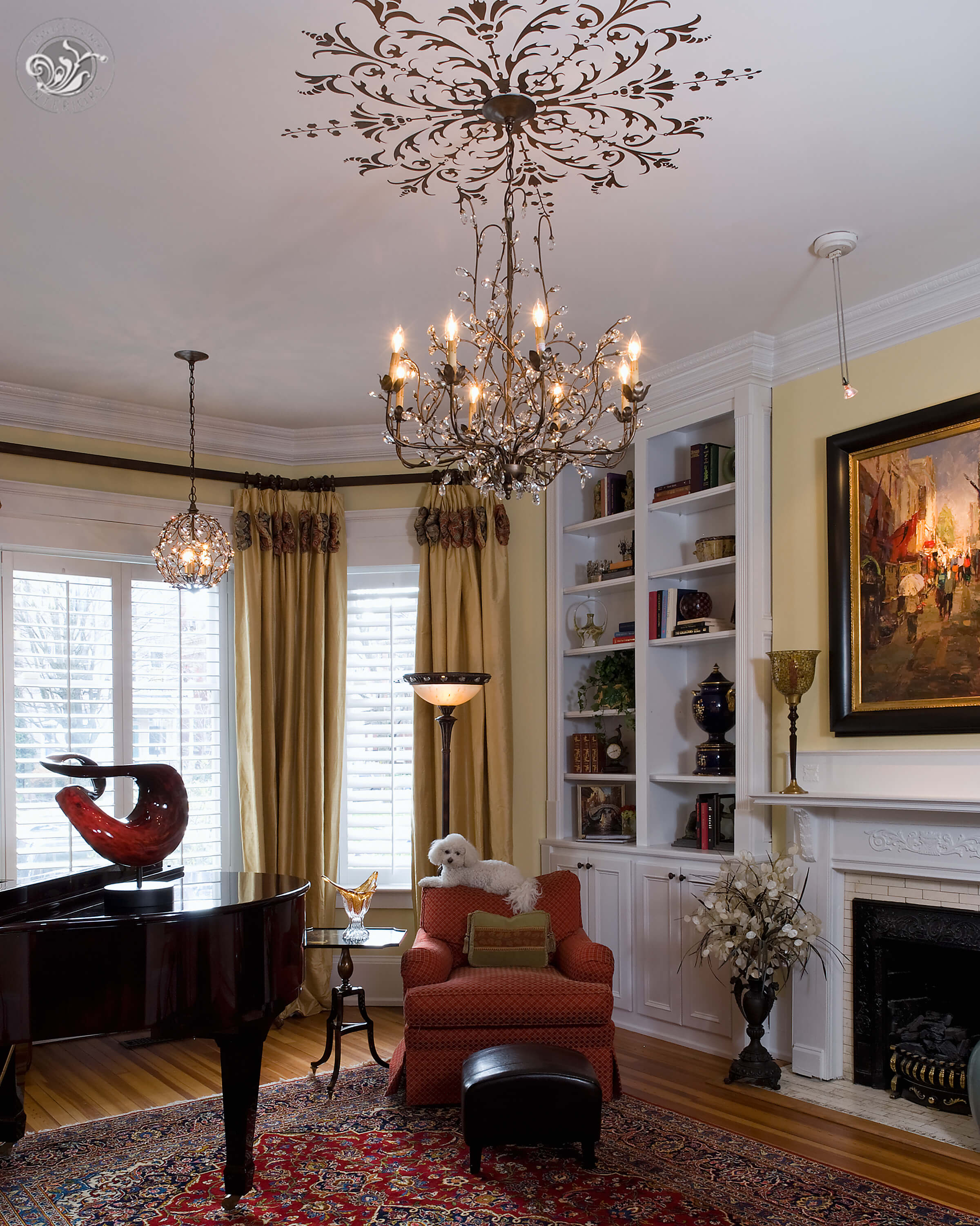 Monument Avenue Richmond living room