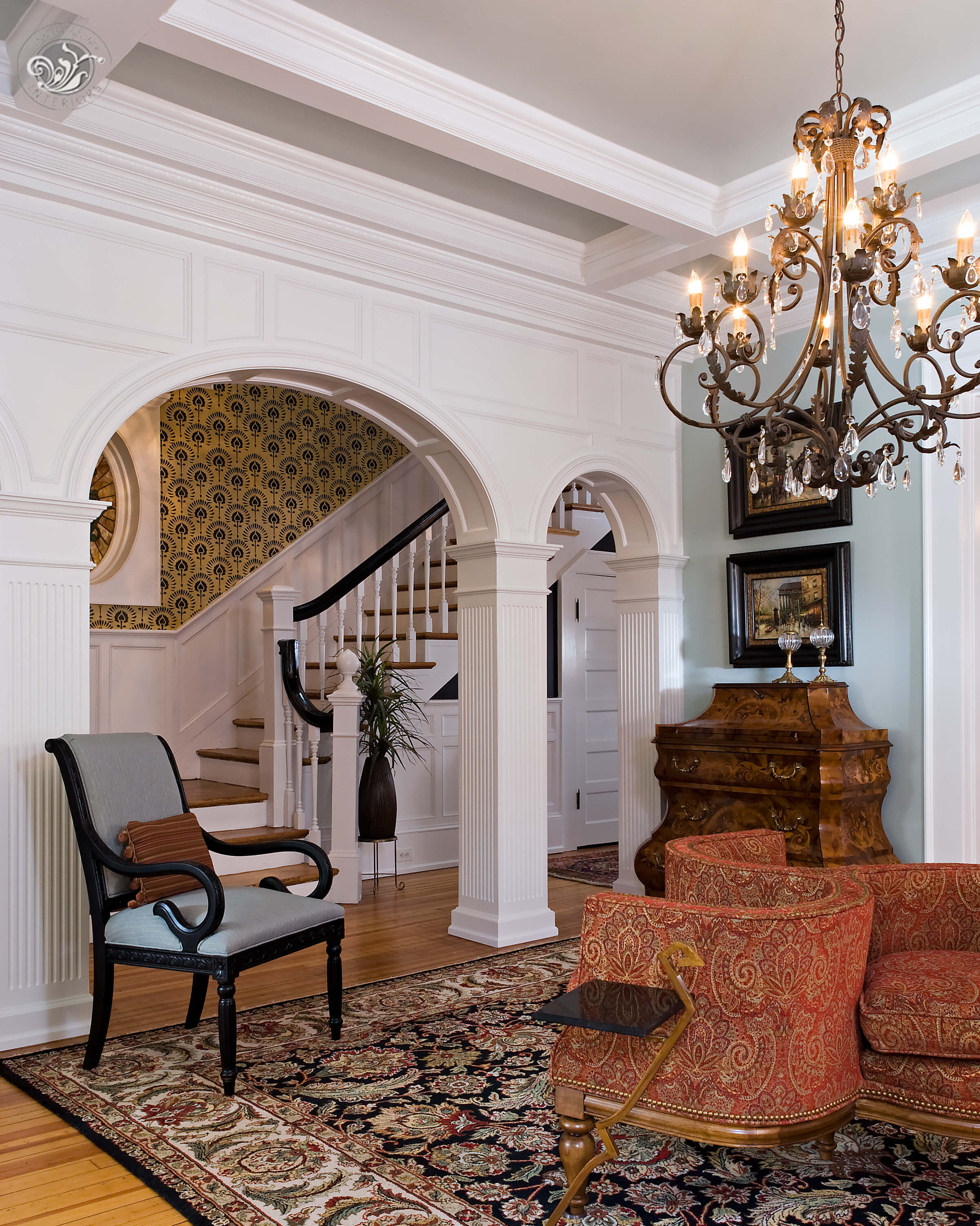 Monument Avenue Richmond entry parlor foyer