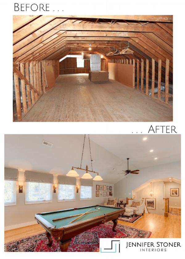 Before and After Attic Space