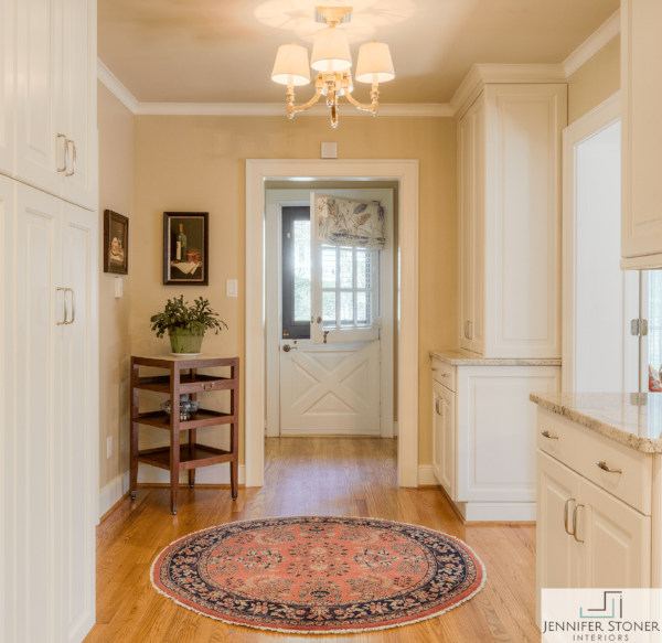 Original Dutch door restored and relocated to the client's side door