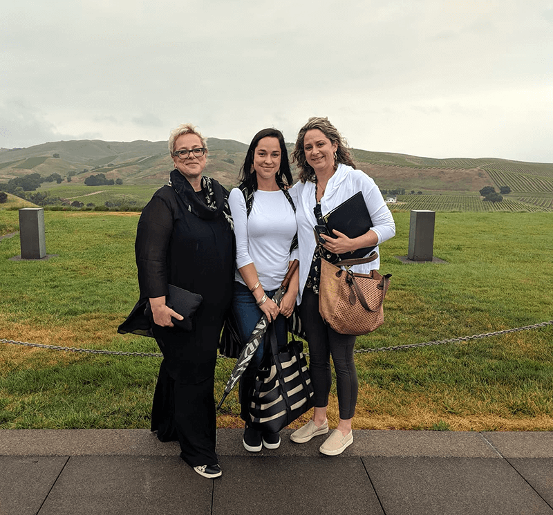 Veronika Eagleson, Flo Von Pelet and Sarah Harman