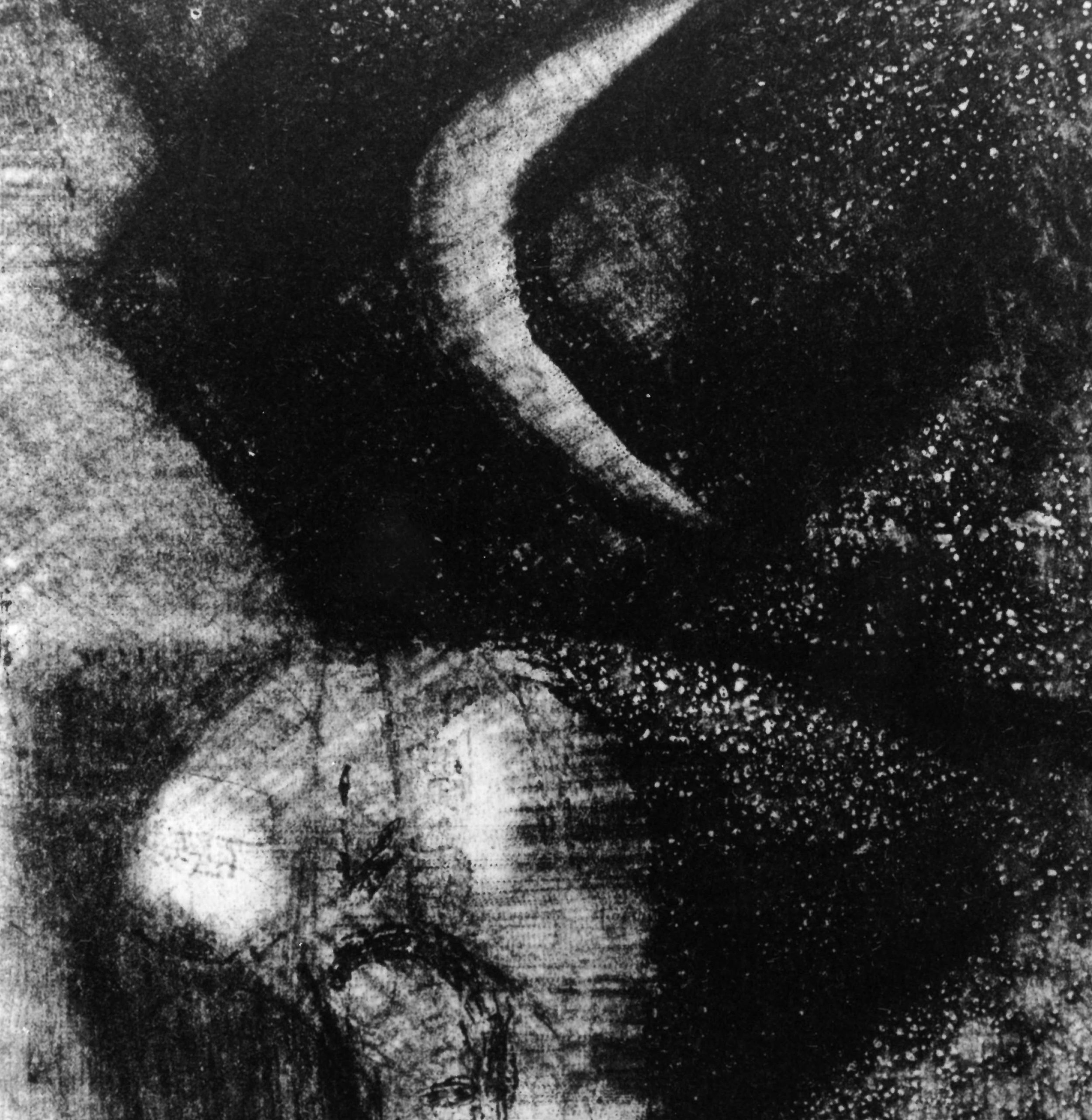 Franz Kempf, 'Blessing of the Moon,' 1992, etching, aquatint, drypoint, 8 x 7cm