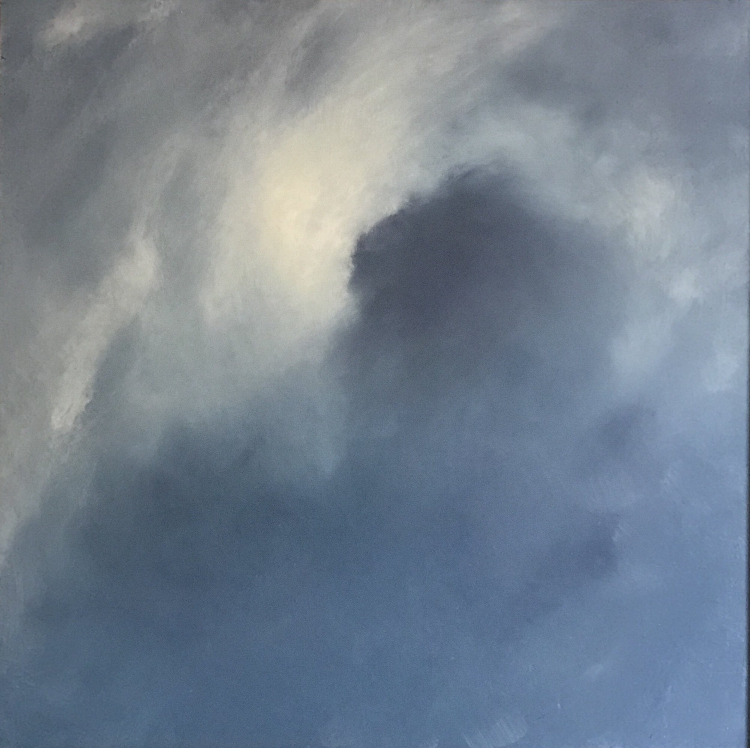 Sally Deans,  Touching the Sky - Storm , 2017, oil on board, 62 x 62cm