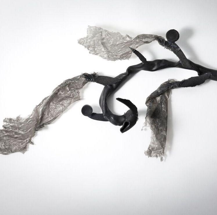 Lesa Farrant,  Brown Algae 1,  2017, plastic, foam, hot glue. Photo Heide Wolff.