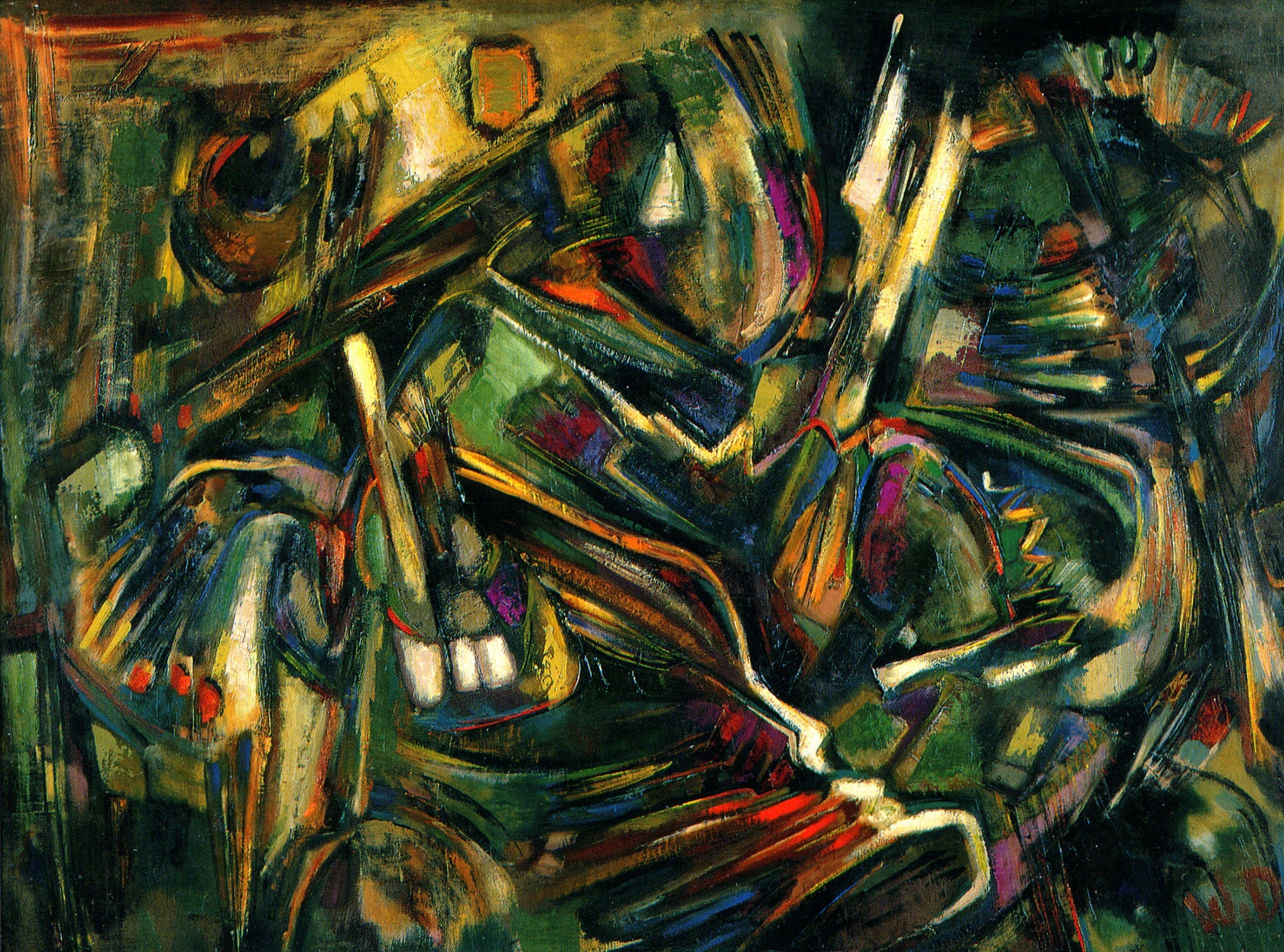 Wladyslaw Dutkiewicz,  Vibrato , 1962, oil on board