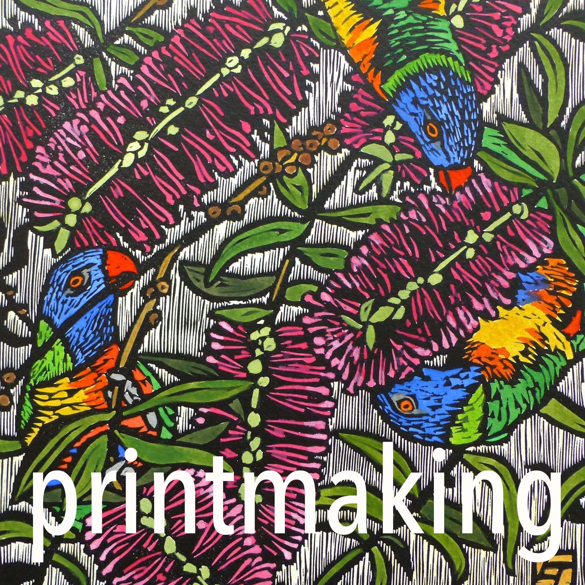 Lino print workshop with Lucy Timbell