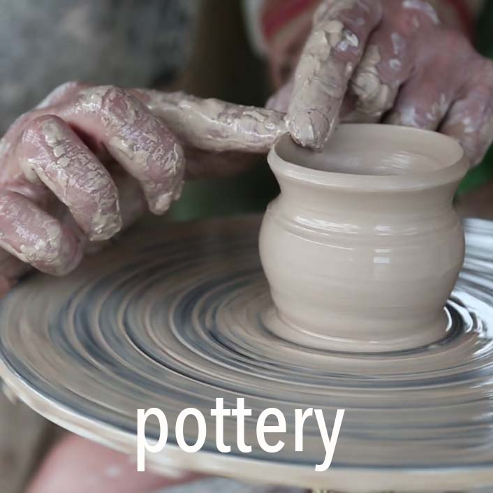 Try the pottery wheel with Tatty K