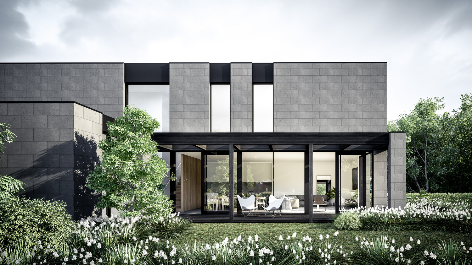 Bluestone House by Auhaus for Life Spaces Group Side Facade.jpg