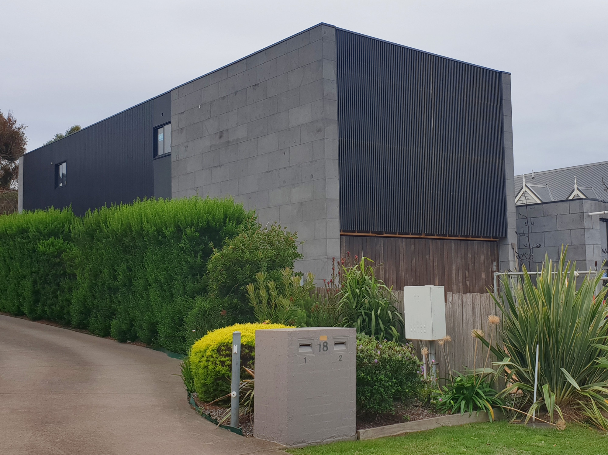lifespaces bluestone house facade under construction