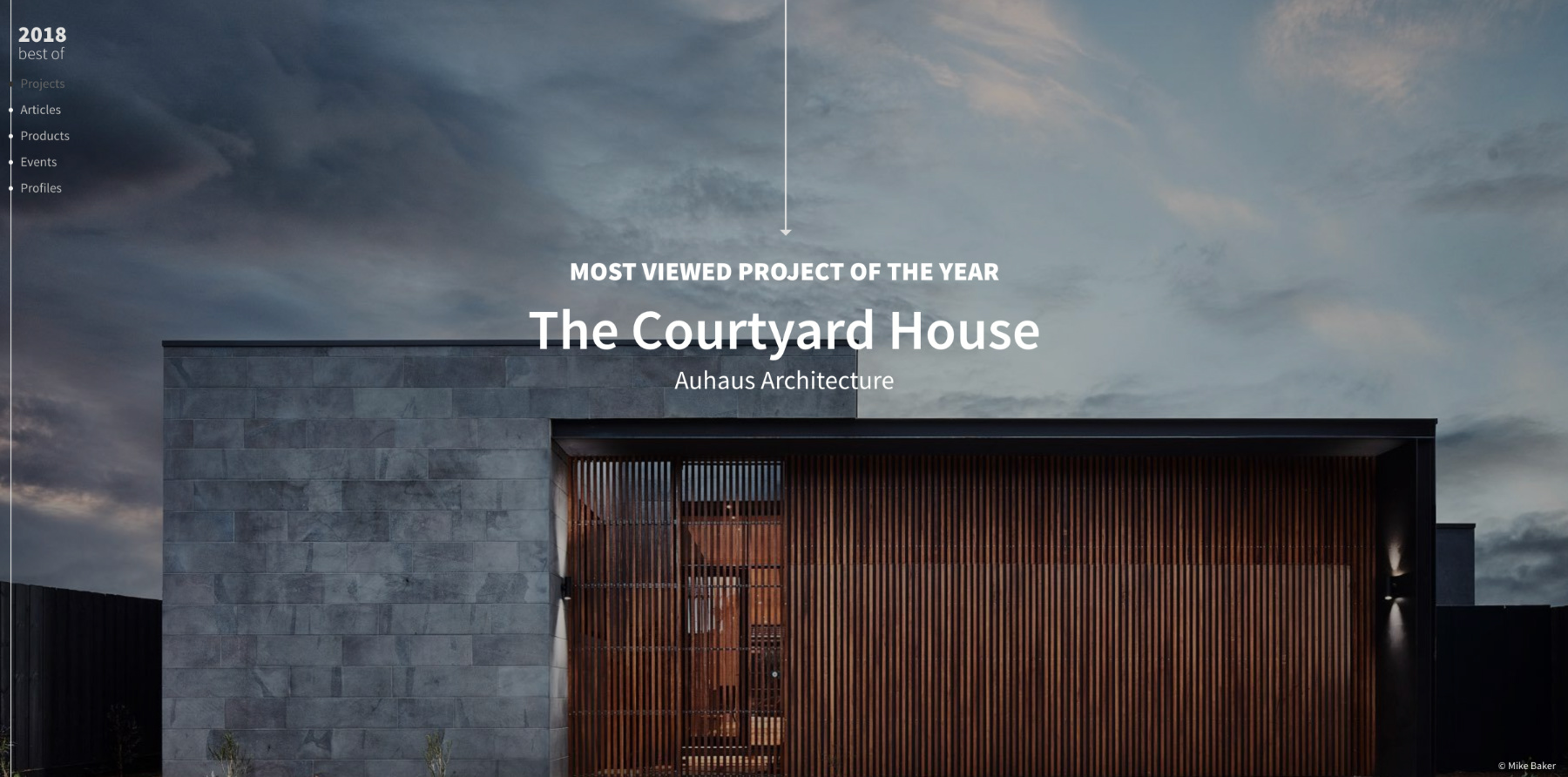 The Courtyard House on Arch Daily