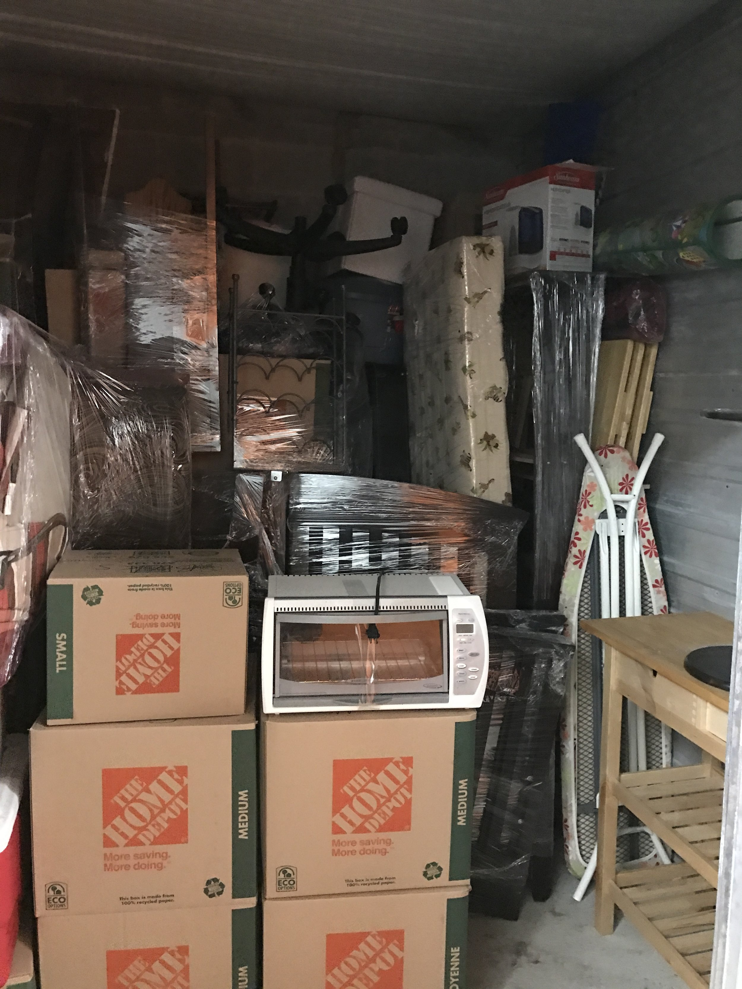 Storage locker, while prepping the home for sale.