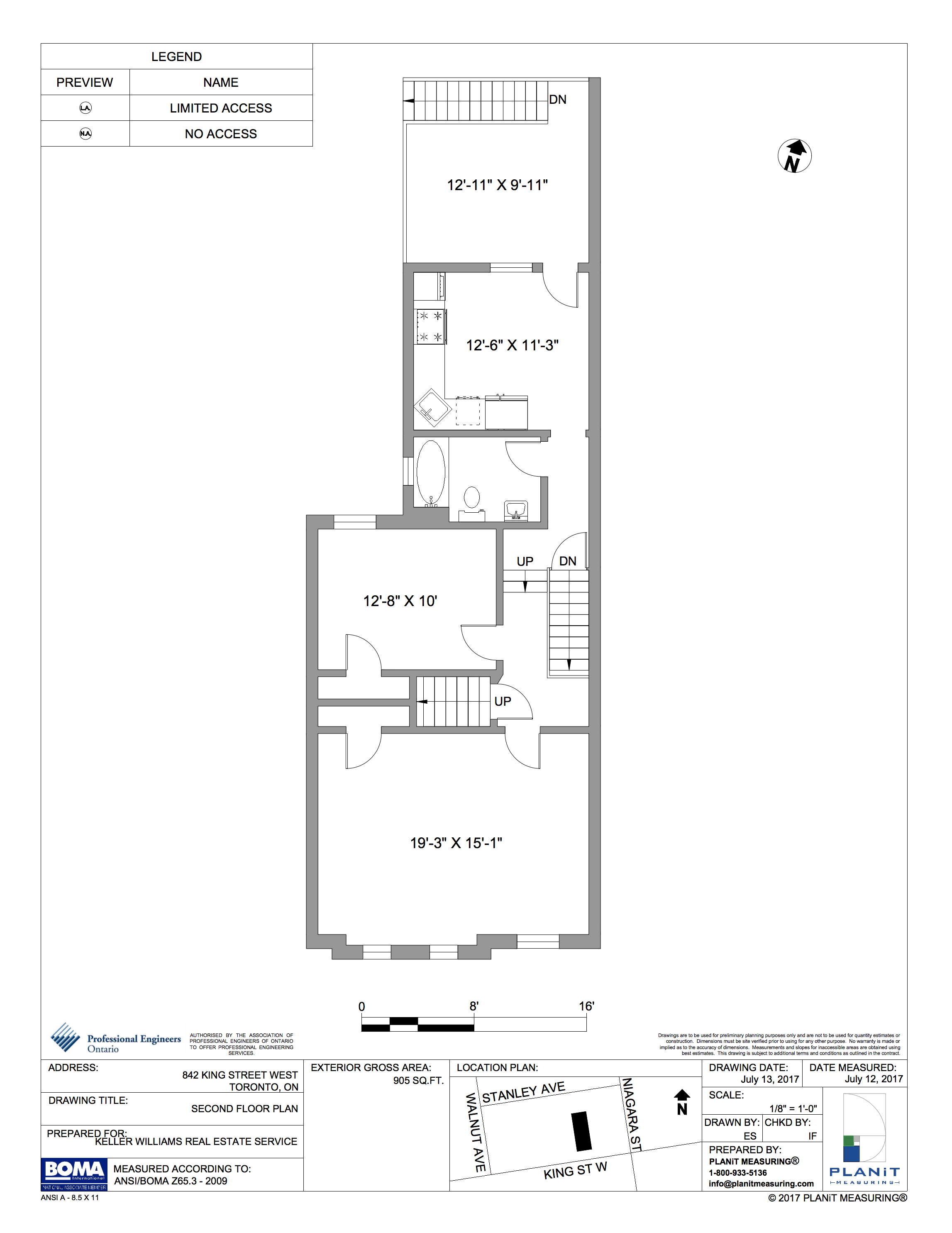 SECOND FLOOR (905 sq ft)