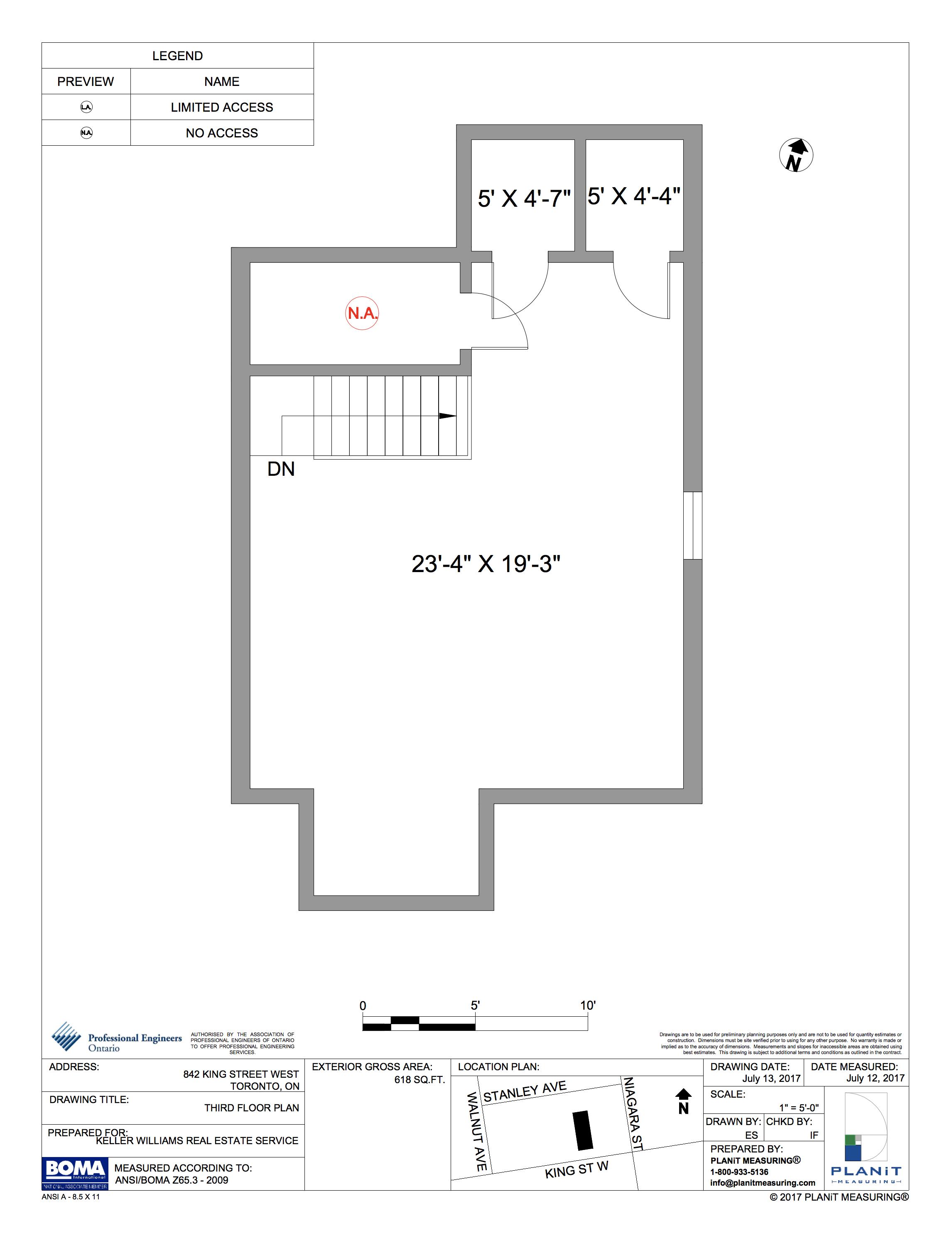 THIRD FLOOR (618 sq ft)