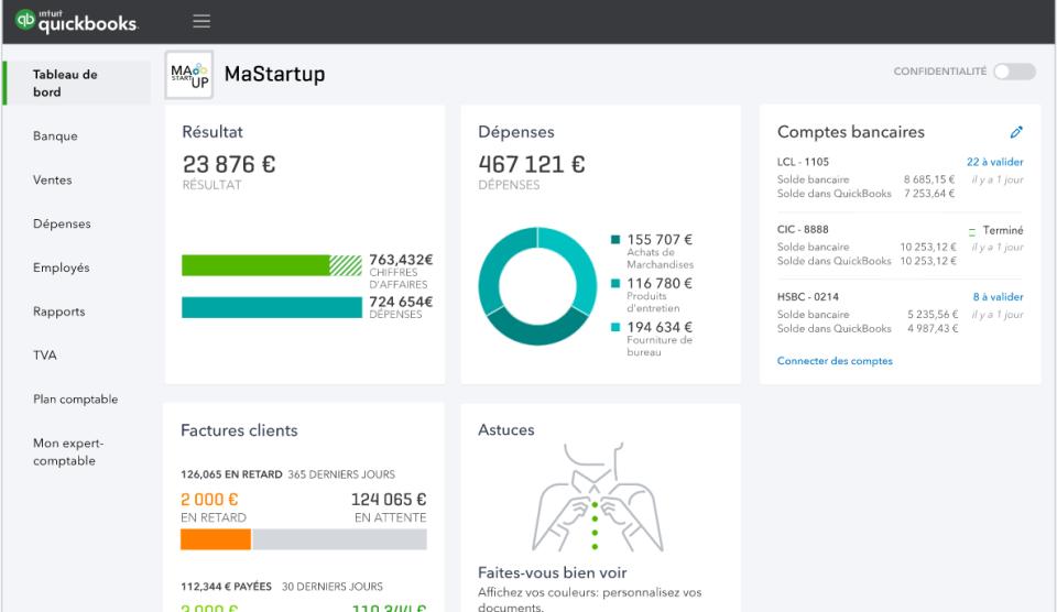 Quickbooks, outil de facturation et de comptabilité en ligne