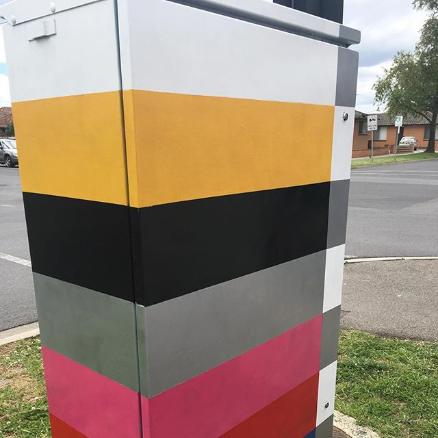 New electrical boxes painted by another of our commissioned artist. This time it is the wonderful Jess Ramsey. You should be able to spot her distinct style across the Moonee Valley for the Signals project. #mooneeart #signals #mofproject #publicart