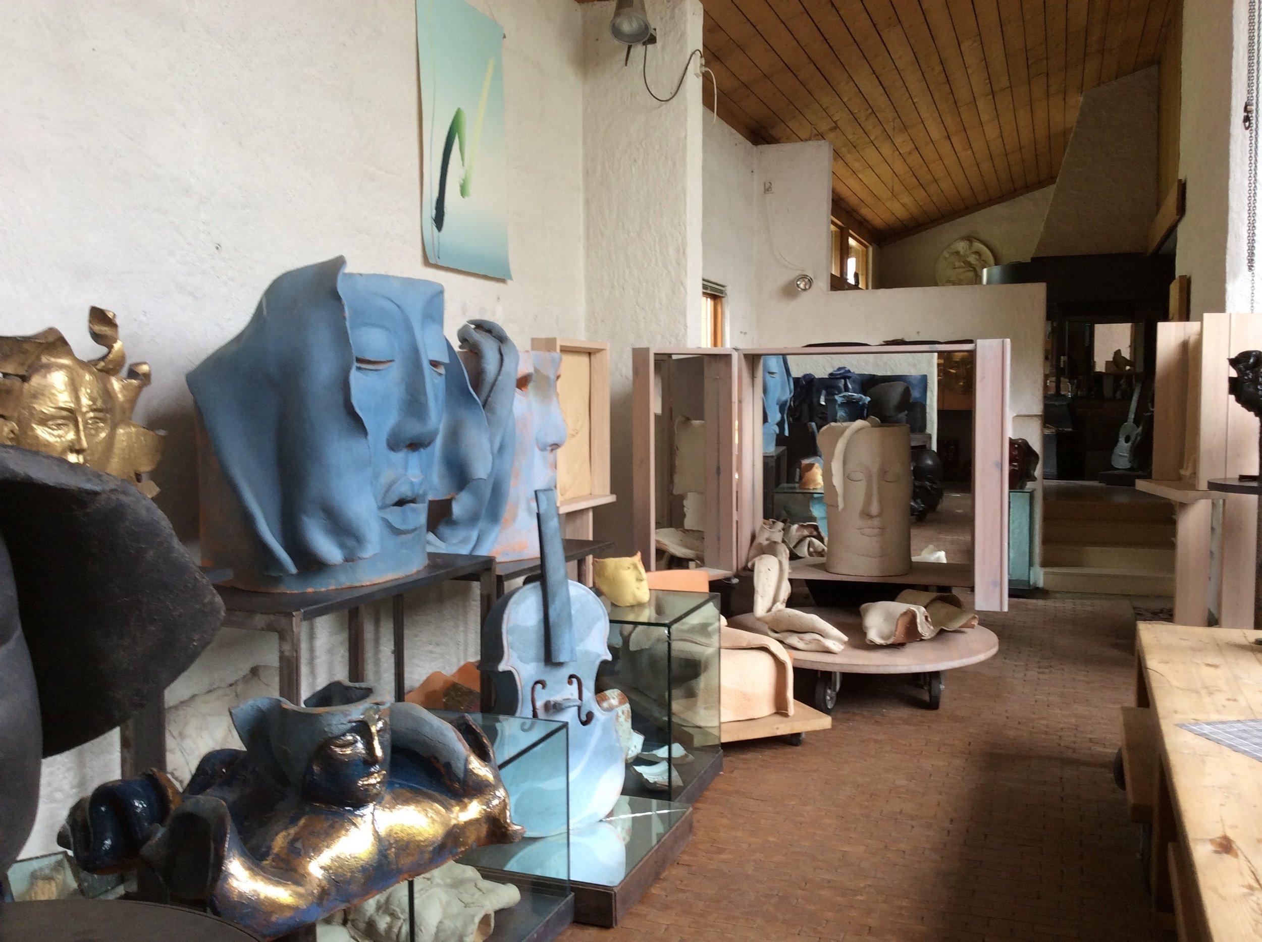 Från Hertha Hillfons ateljé och bostad i Mälarhöjden.
